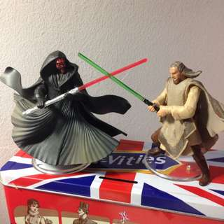 Star Wars Darth Maul And Qui-Gon jinn Duel