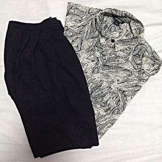 Black Short Tulip Skirt