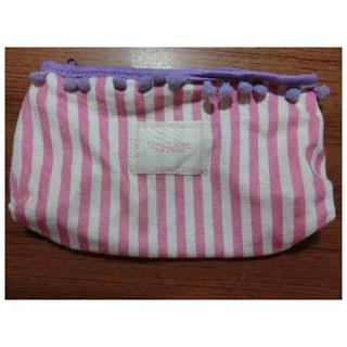 日本雜誌附錄 PEACH JOHN  條紋絨可愛球球化妝包/筆袋