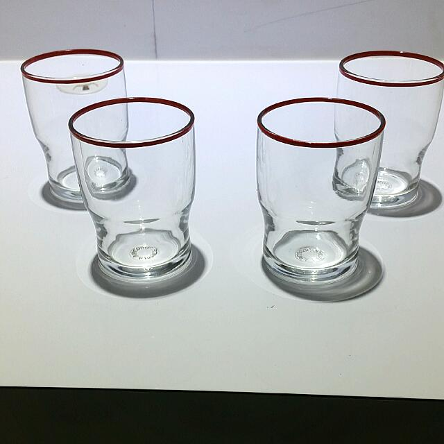 4 Drinking Glasses