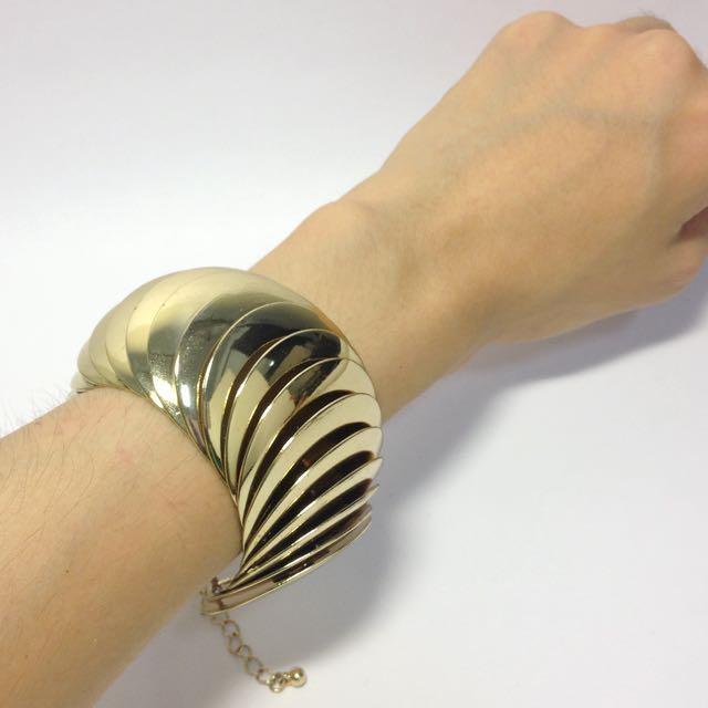 ASOS簡約金色圓片手環