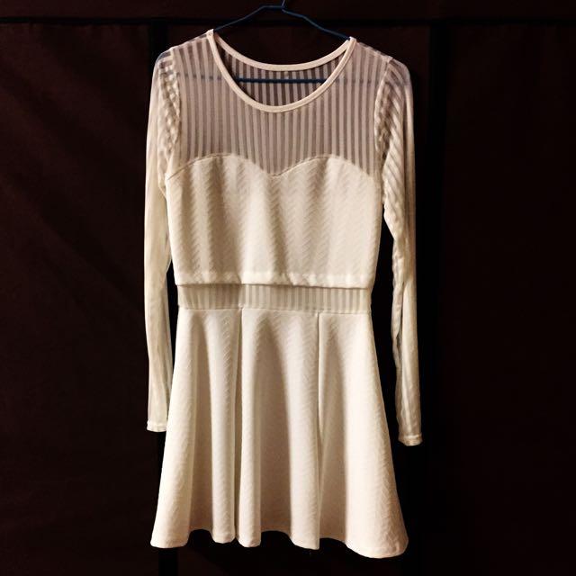 [全新]白色連身裙