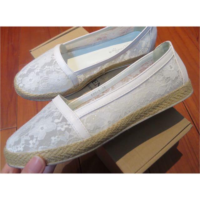 透膚蕾絲花懶人鞋🌸