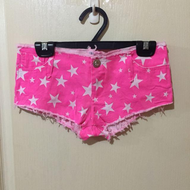 粉紅星星短褲
