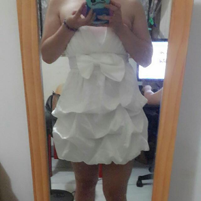緞面蝴蝶結洋裝