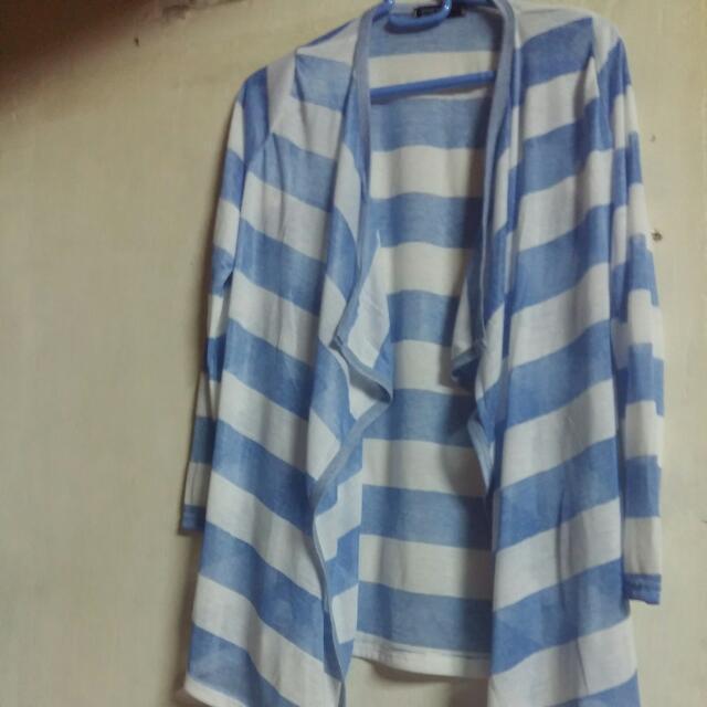藍白條紋薄外套