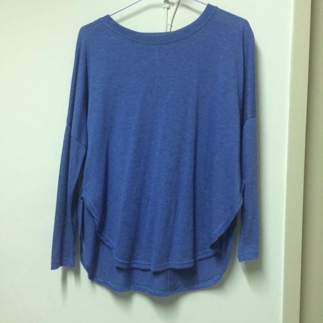 簡單素色飛鼠上衣 藍💙