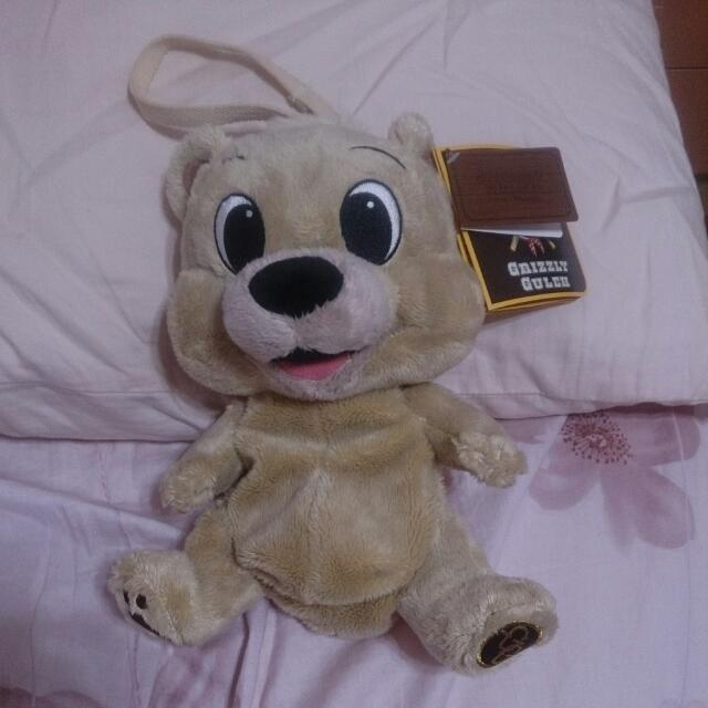 香港迪士尼限定 灰熊山谷 小灰熊 娃娃吊飾 偶掛飾 拉鏈小提包