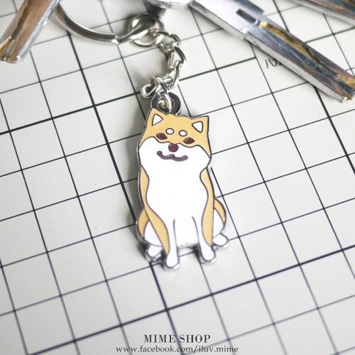 可愛日本 柴犬 金屬 鑰匙圈 吊飾 #SB003 歪頭