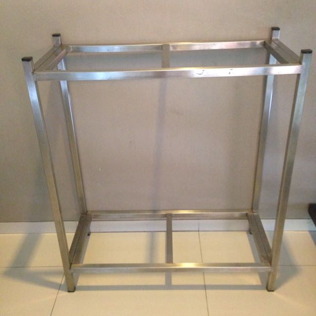 Stainless steel fish tank stand double decked pet for Double fish tank stand