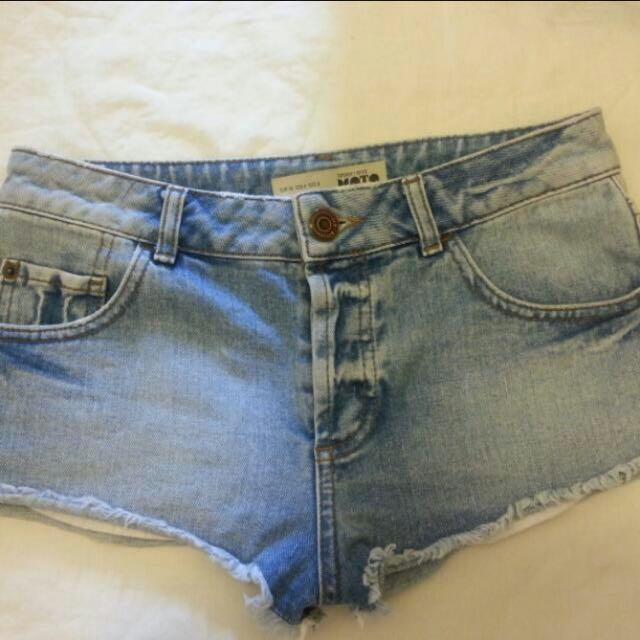 Topshop Denim Shorts (UK 8)