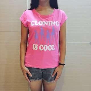 粉紅色短袖T恤