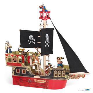 Papo Blackbeard Pirate Ship Playset / Black Beard Play Set