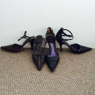 Various Shoes, Heels, Boots And Flats