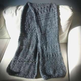 Handmade Grey Woolen Scarf