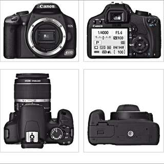 Canon 450D Body Only Plus 2 Original Batteries