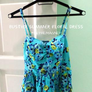 Bustier Summer Floral Dress