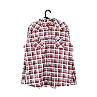 Clockhouse 格紋連帽襯衫 外套 法蘭絨 滑版#交易最划算