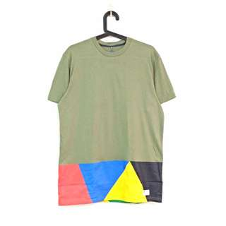 Adidas Originals 長版 墨綠民族風 拼接短袖T恤 Tshirt#交易最划算