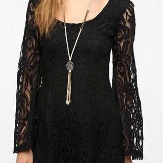 🌺🌸國外 購入 全新 黑色 細緻蕾絲洋裝 🌸