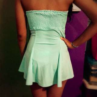 Green / turquoise dress Free Size