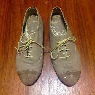韓版米色牛津鞋