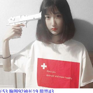 全新學院風設計感bf風原宿短袖T恤