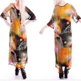 Cosmic Galaxy Chiffon Dress