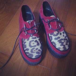PUNK龐克鞋 厚底鞋 松糕鞋 增高鞋 演唱會之矮子救星哈哈