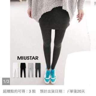 網拍轉賣✨Miu-Star 韓國首爾直送※柔軟舒適假窄裙襬內搭褲 黑色