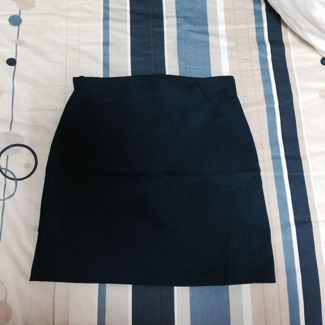 寶藍色窄裙