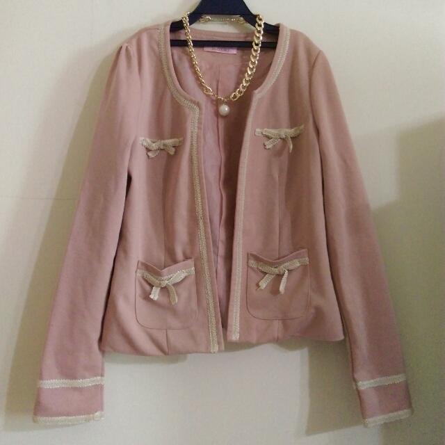 降價🎉質感藕粉色小外套