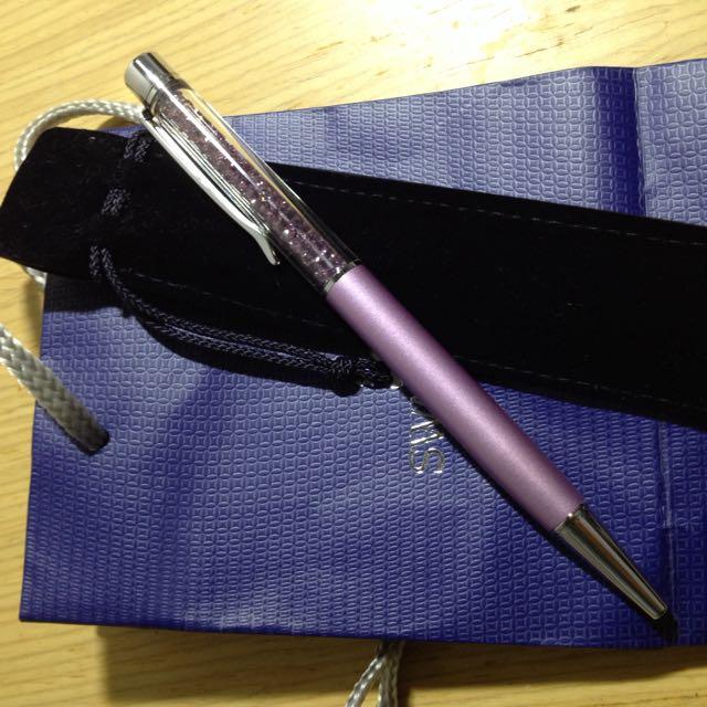 SWAROVSKI💎施華洛世奇 淡紫色水晶筆(經典款)
