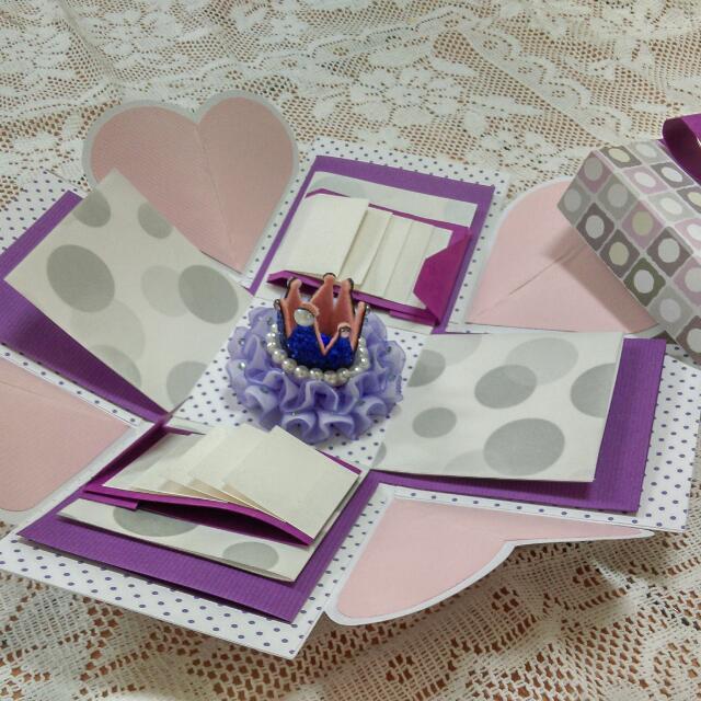 立體爆炸盒卡片