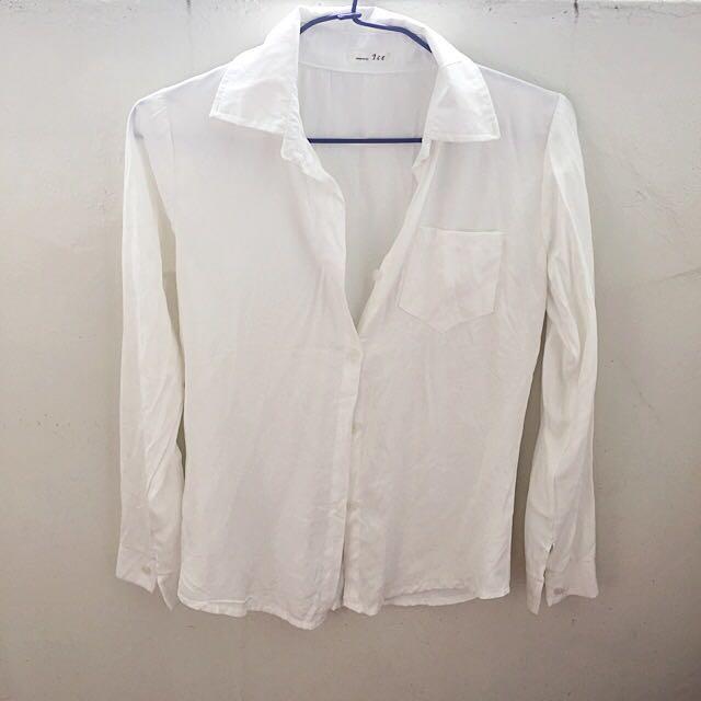 降價👍🏻素色白襯衫