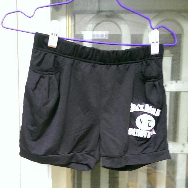 全新黑色運動短褲