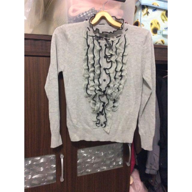 針織蕾絲可愛造型上衣
