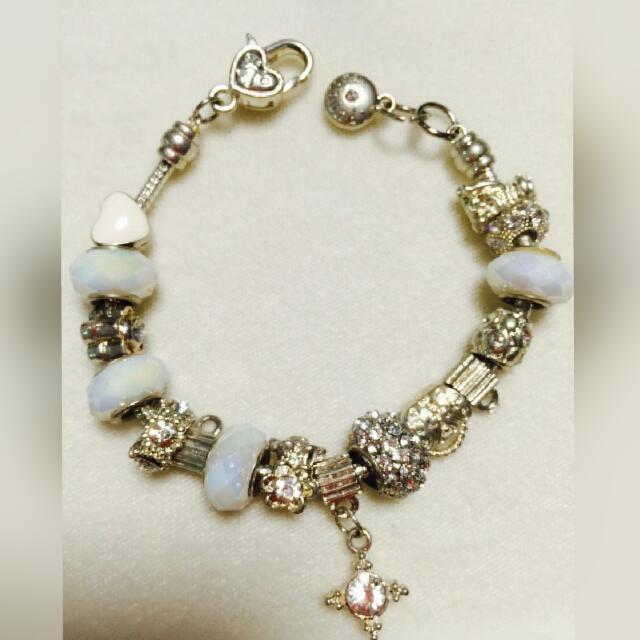 女生最愛👉潘朵拉式串珠純銀手鍊