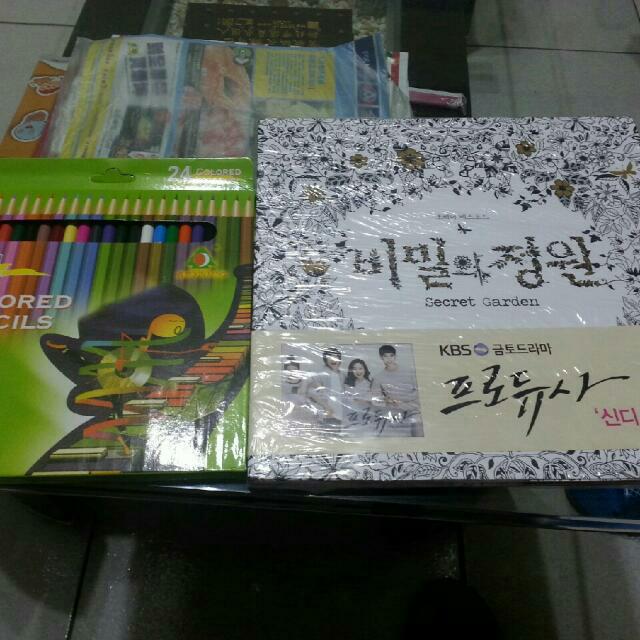 全新韓國真貨 秘密花園+24色色鉛筆 歡迎預購!