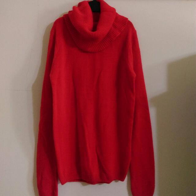 🎉降價🎉東京著衣 紅色圍脖毛衣