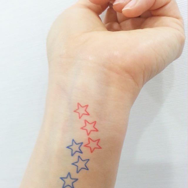 韓國超火紅 無痛刺青(Star)