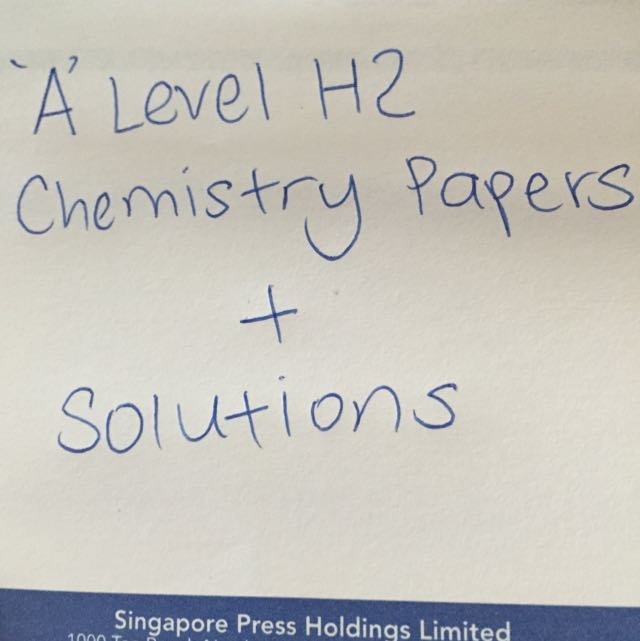 A LEVEL Chemistry Exam Papers With Complete Solutions, Books