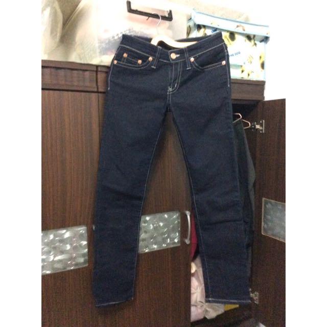 Blue way 牛仔長褲XL