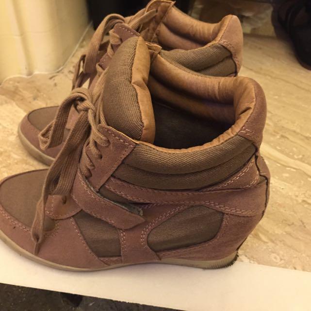 D+af 增高駝色鞋