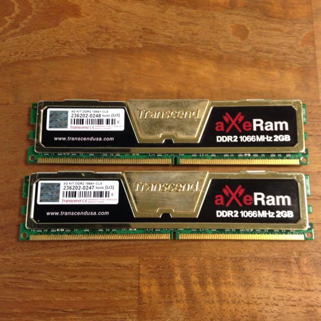 DDR2 1066MHz 2GB x2 雙通道 4GB 電腦記憶體