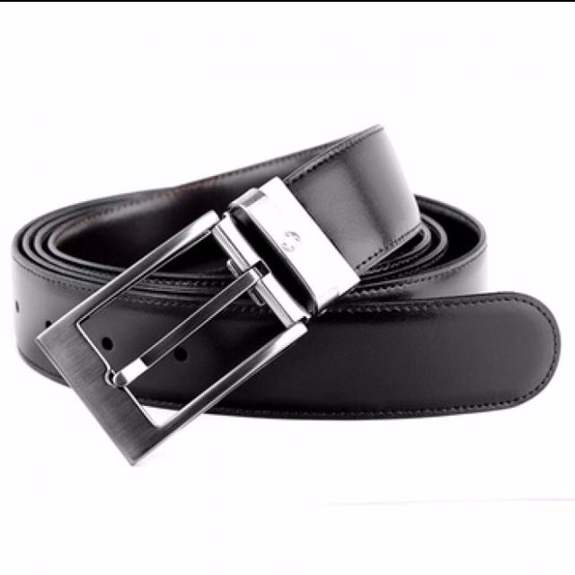 Montblanc 105090 Casual Line Men's Leather Reversible Belt, Men's Fashion  on Carousell