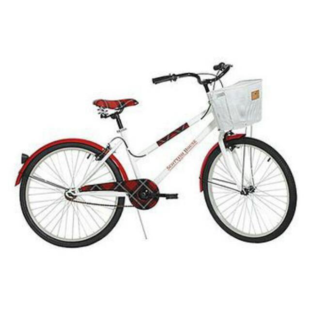 Scottish House 經典紅黑格紋 腳踏車 可議價
