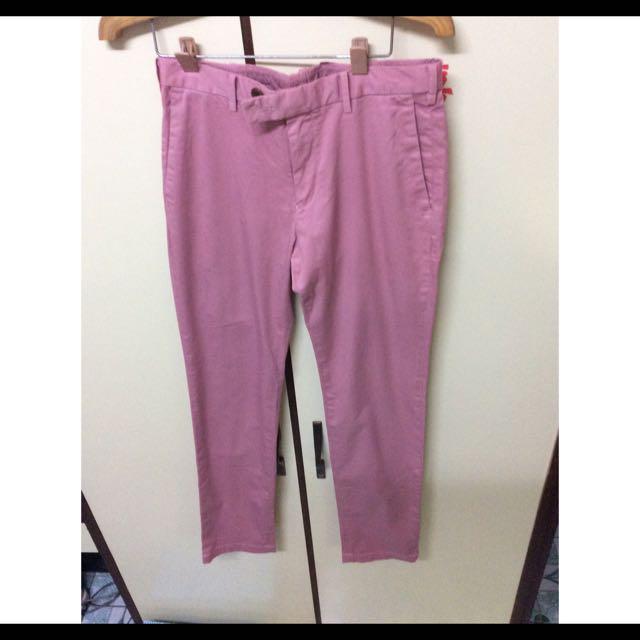 Uniqlo 粉紅色長褲