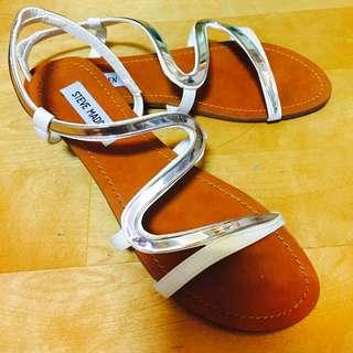 全新蛇形S型繞腳背平底涼鞋