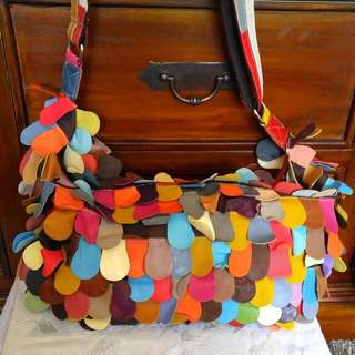 Vintage Multi Coloured Handbag